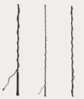 Longeerzweep, 2 delen, zwart, 180 cm