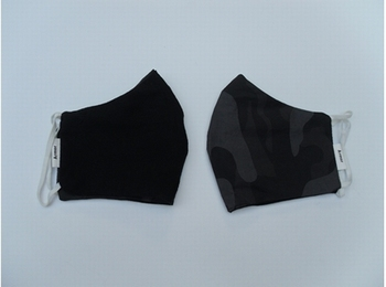 Mondmasker - camouflage zwart