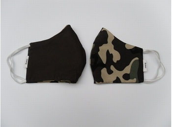 Mondmasker - camouflage bruin