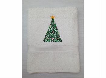 Handdoek wit geborduurd 50x100 cm