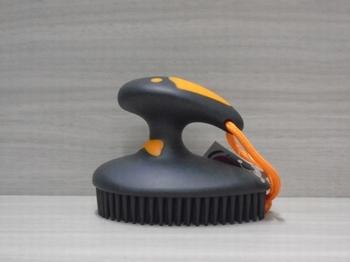 Fun rubber nop borstel Orange