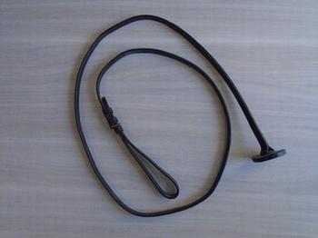halsterlijn zwart leder grote lus