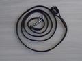 halsterlijn zwart leder karabijn zilver 10 mm