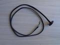 halsterlijn zwart leder karabijn zilver13 mm